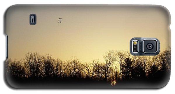 Geese At Sunrise Galaxy S5 Case by Kent Lorentzen