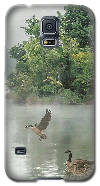 Geese On Misty Lake Galaxy S5 Case