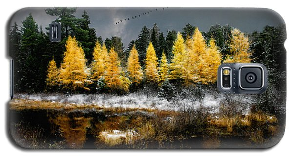 Geese Over Tamarack Galaxy S5 Case