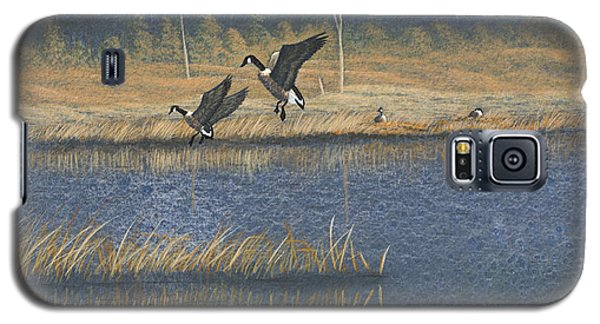 Galaxy S5 Case featuring the painting Geese by Richard Faulkner