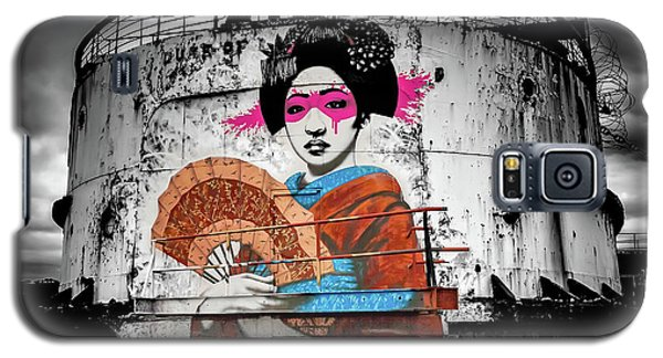 Galaxy S5 Case featuring the photograph Geisha Graffiti by Adrian Evans