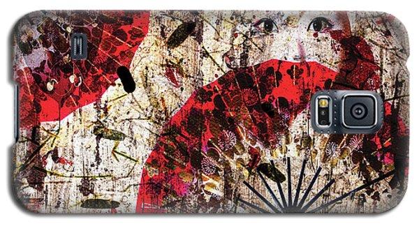 Geisha Grunge Galaxy S5 Case by Paula Ayers