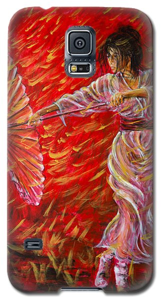 Geisha - Rain Dance 02 Galaxy S5 Case by Nik Helbig