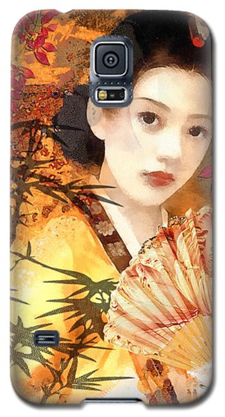 Geisha With Fan Galaxy S5 Case