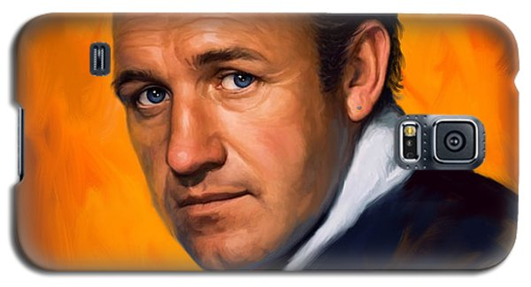 Galaxy S5 Case featuring the painting Gene Hackman by Sam Shacked