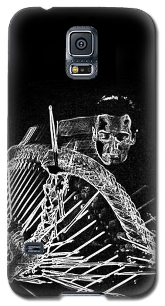 Galaxy S5 Case featuring the mixed media Gene Krupa by Charles Shoup