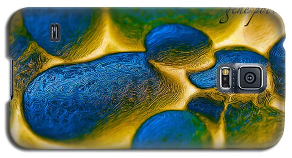 Galaxy S5 Case featuring the digital art Gene Pool Blue by ISAW Company