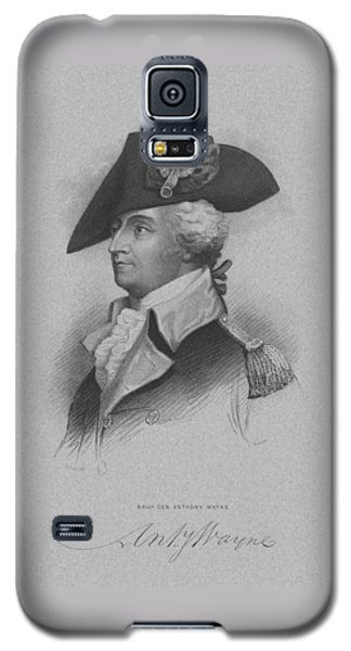 Galaxy S5 Case featuring the mixed media General Anthony Wayne by War Is Hell Store