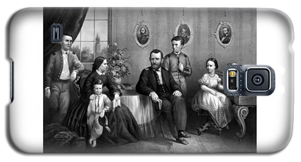 Galaxy S5 Case featuring the mixed media General Grant And His Family by War Is Hell Store