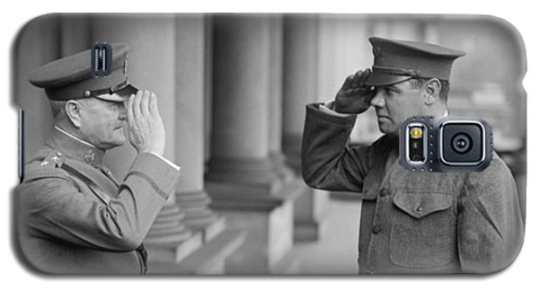General John Pershing Saluting Babe Ruth Galaxy S5 Case by War Is Hell Store