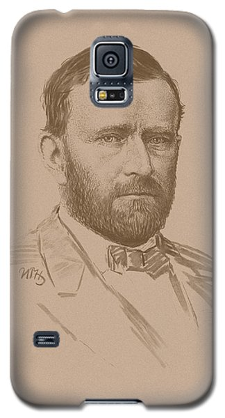 Galaxy S5 Case featuring the mixed media General Ulysses S Grant by War Is Hell Store