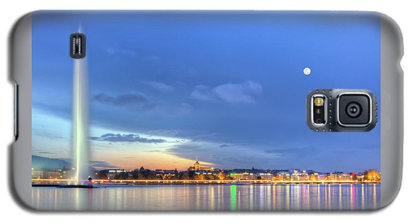 Geneva Lake With Famous Fountain, Switzerland, Hdr Galaxy S5 Case