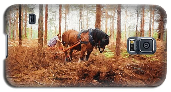 Gentle Giant - Horse At Work In Forest Galaxy S5 Case by Jayne Wilson