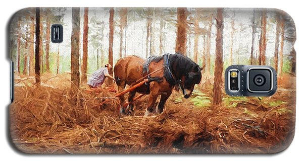 Gentle Giant - Horse At Work In Forest Galaxy S5 Case