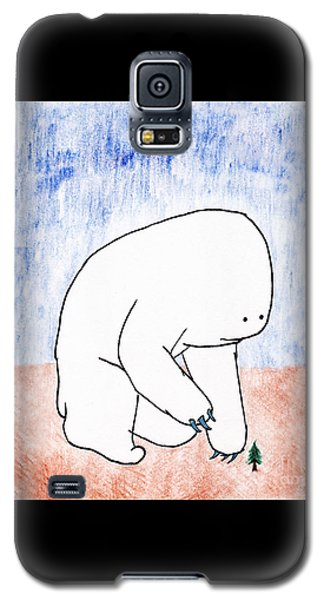 Galaxy S5 Case featuring the drawing Gentle Giant by Uncle J's Monsters