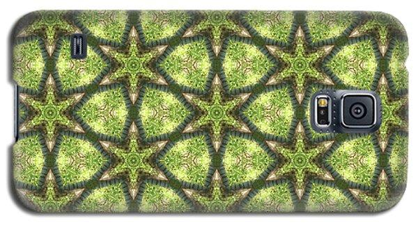Geo Stars In Greens Galaxy S5 Case