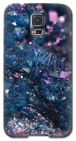 Geode Abstract Teal Galaxy S5 Case