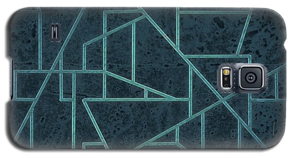 Geometric Abstraction In Blue Galaxy S5 Case