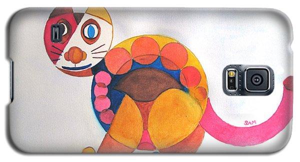 Geometric Cat Galaxy S5 Case