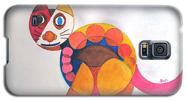 Geometric Cat Galaxy S5 Case