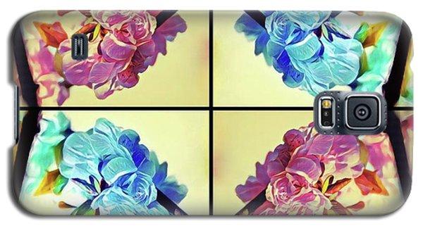 Geometric Cherry Blossoms Galaxy S5 Case