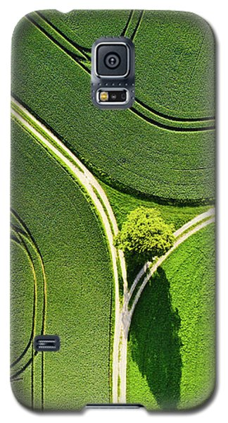 Geometric Landscape 05 Tree And Green Fields Aerial View Galaxy S5 Case