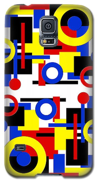 Galaxy S5 Case featuring the digital art Geometric Shapes Abstract V 1 by Andee Design