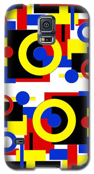 Galaxy S5 Case featuring the digital art Geometric Shapes Abstract V 2 by Andee Design