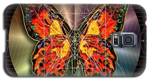 Galaxy S5 Case featuring the digital art Geometron Fyr Lepidoptera by Iowan Stone-Flowers