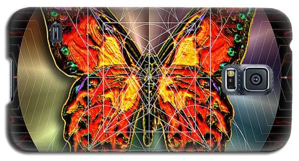 Geometron Fyr Lepidoptera Galaxy S5 Case