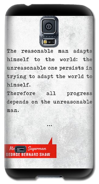 George Bernard Shaw Quotes - Man And Superman - Literary Quotes - Book Lover Gifts - Typewriter Art Galaxy S5 Case