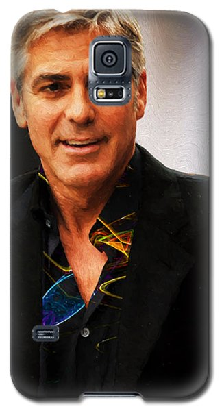 Galaxy S5 Case featuring the photograph George Clooney Painting by Ericamaxine Price