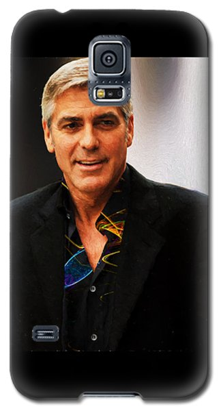 George Clooney Painting Galaxy S5 Case