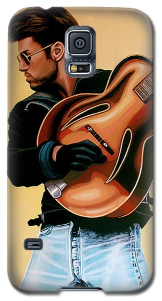 George Michael Painting Galaxy S5 Case