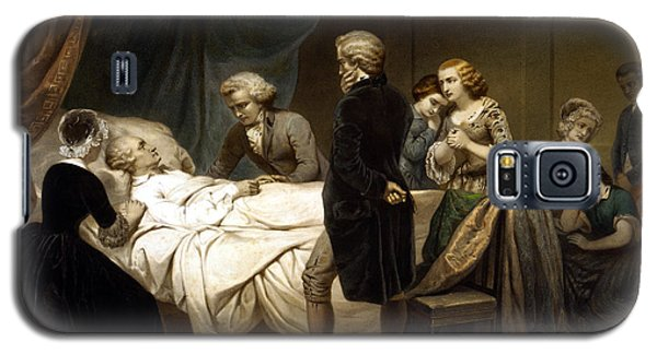 Galaxy S5 Case featuring the painting George Washington On His Deathbed by War Is Hell Store