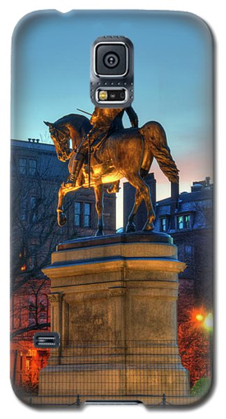 Galaxy S5 Case featuring the photograph George Washington Statue In Boston Public Garden by Joann Vitali