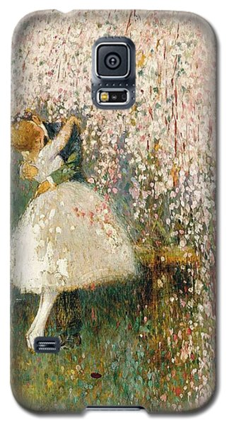 Georges Picard French 1857 1946 Romance Under The Blossom Tree Galaxy S5 Case