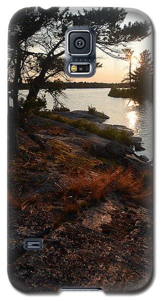 Georgian Bay Rock-wild Grass At Sunset Galaxy S5 Case