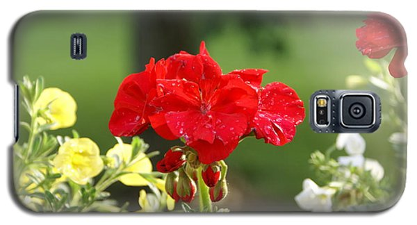 Galaxy S5 Case featuring the photograph Geranium by Heidi Poulin