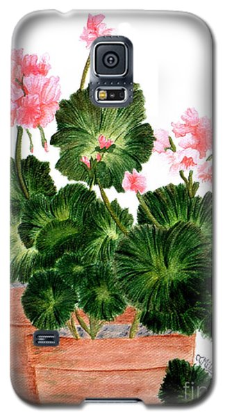 Geraniums In Clay Pots Galaxy S5 Case