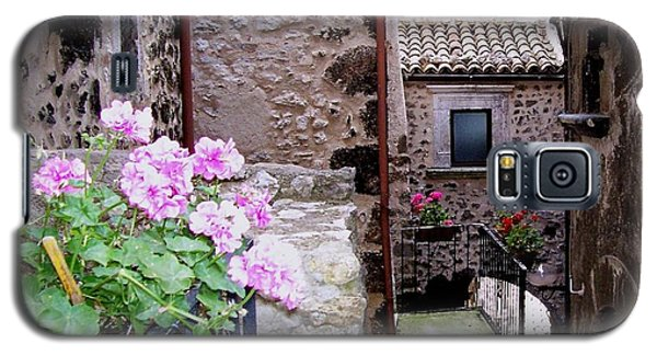 Galaxy S5 Case featuring the photograph Geraniums by Judy Kirouac