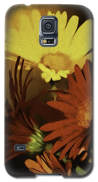 Gerbera Daisies Painterly Galaxy S5 Case by Diane Schuster