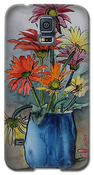 Gerberas In A Blue Pot Galaxy S5 Case