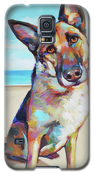 German Shepard On The Beach Galaxy S5 Case