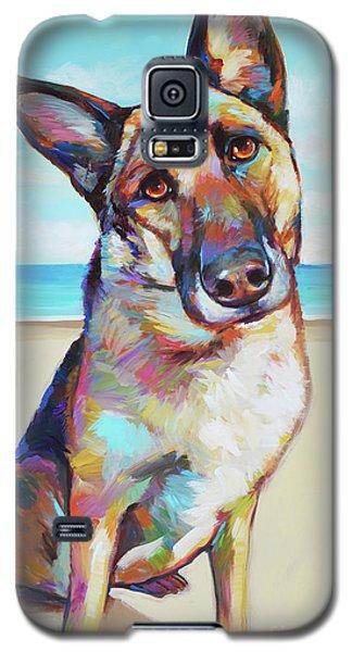 German Shepard On The Beach Galaxy S5 Case