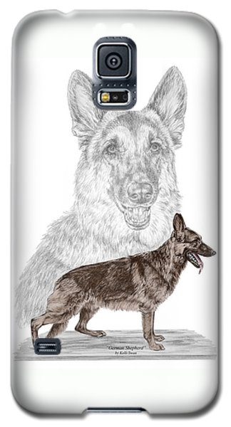 German Shepherd Art Print - Color Tinted Galaxy S5 Case