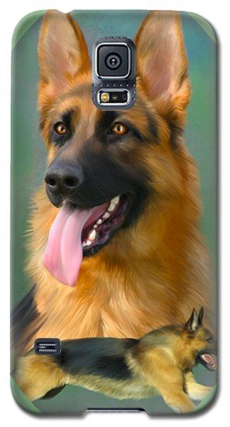 German Shepherd Breed Art Galaxy S5 Case