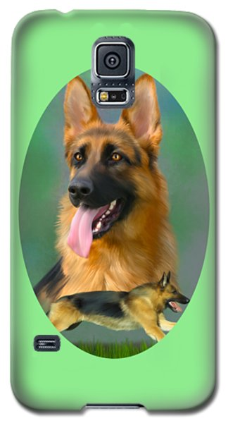 German Shepherd Breed Art Galaxy S5 Case