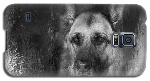 German Shepherd In Black And White Galaxy S5 Case