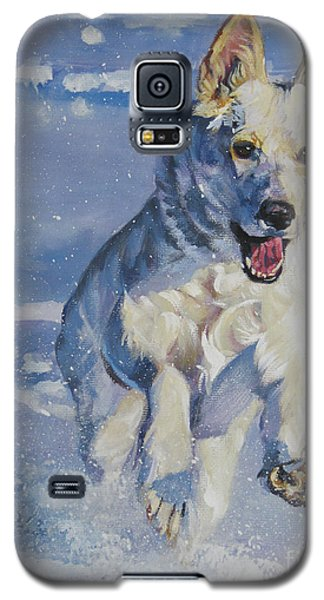 German Shepherd White In Snow Galaxy S5 Case